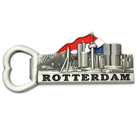 Magnet bottle opener rotterdam holland flag