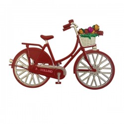MAGNET BICYCLE TULIPS HOLLAND RED
