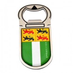 FRIDGE MAGNET BOTTLE OPENER CITY LOGO ROTTERDAM