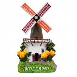 MAGNET HOLLAND WINDMILL TULIPS POLYSTONE