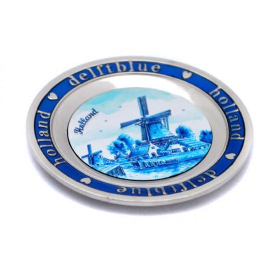 Magneet metaal bord delfts blauw