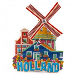 FRIDGE MAGNET WINDMILL ROTATING WING COLOR
