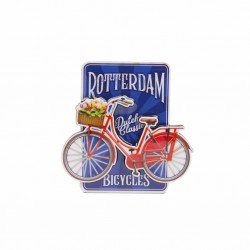 MAGNET ROTTERDAM BOARD BICYCLE TULIPS 2D