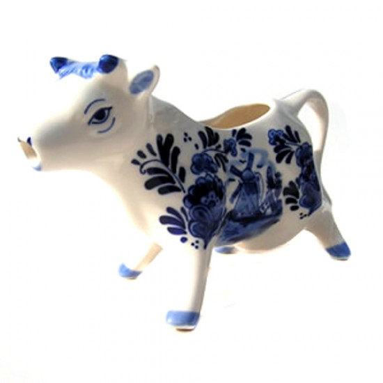 Milk Jug DELFT BLUE COW PORTRAIT