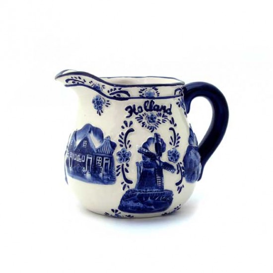 MILK CAN HOLLAND DELFT BLUE RELIEF
