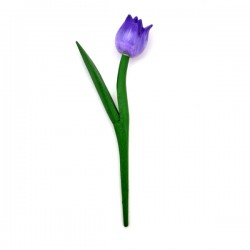 MINI WOODEN TULIP SHINY PURPLE 18 CM
