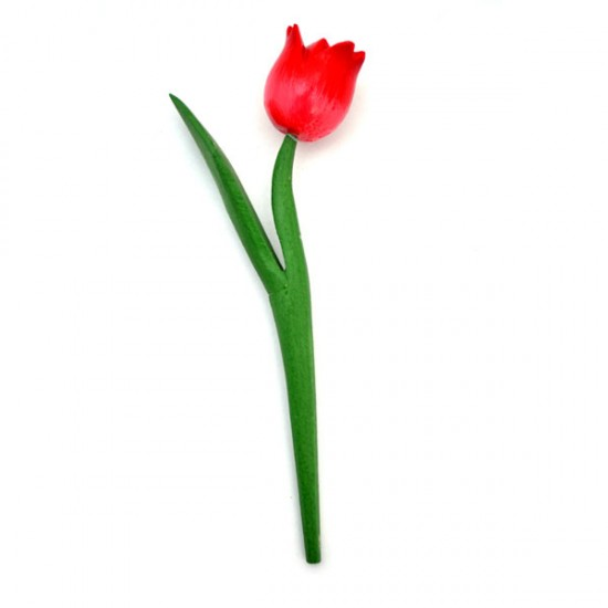 MINI WOODEN TULIP SHINY RED 18 CM