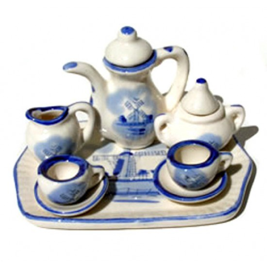 MINIATURE DINNER SET DELFT WARE