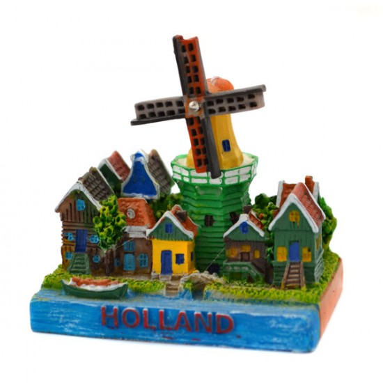 MINIATURE DUTCH VILLAGE SCENE WINDMILL