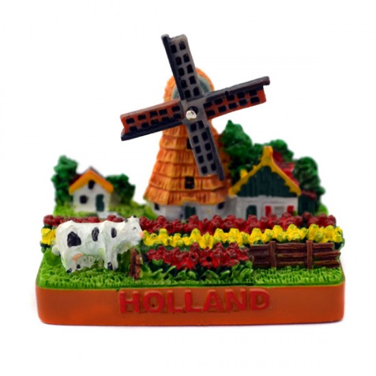 MINIATURE WINDMILL TULIP FIELD HOLLAND