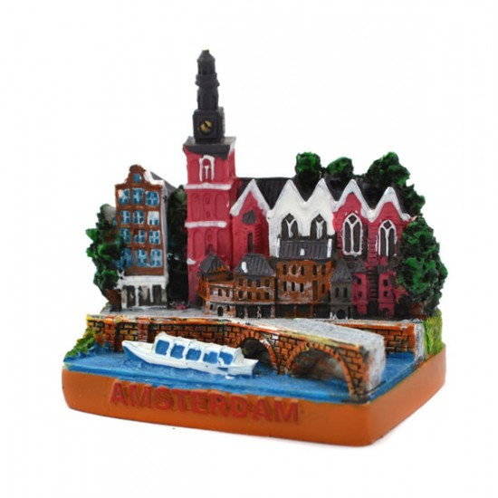 Miniatur alte kirche platz amsterdam