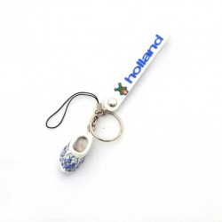 MOBILE / KEYRING STRAP HOLLAND WOODEN CLOGGIE