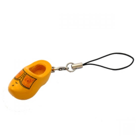 CELL PHONE KEYCHAIN TRADITIONAL WOODEN SHOE