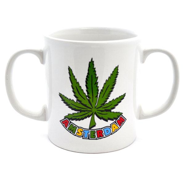 Mug Amsterdam Cannabis Double Ear Amsterdam Souvenirs
