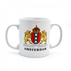MUG AMSTERDAM CITY LOGO DOUBLE EAR