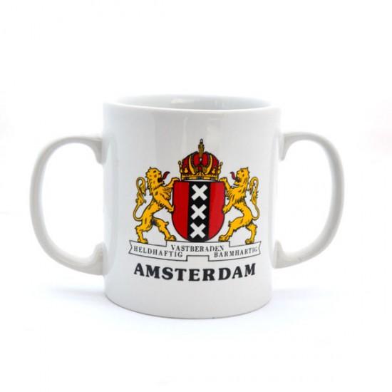 MUG AMSTERDAM CITY LOGO DOUBLE EAR
