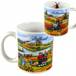 MUG PLUIMERS BICYCLE TULIP FIELD