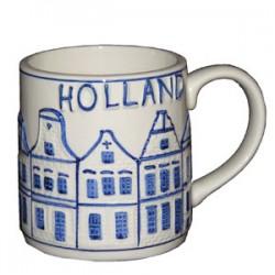 MUG CUP RELIEF MUG DELFT BLUE CANAL HOUSES