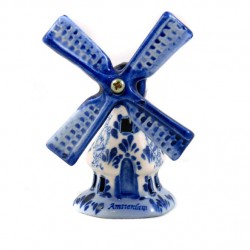 WINDMILL DELFT BLUE AMSTERDAM HEXAGON 8 CM