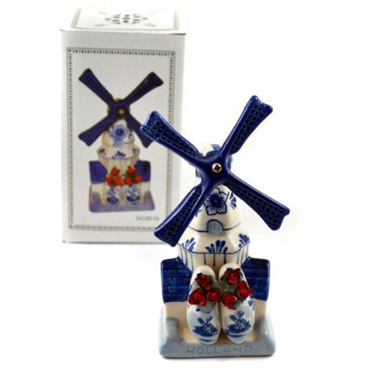 DELFT BLUE COMBI WINDMILL HOUSE TULIP CLOGGIE