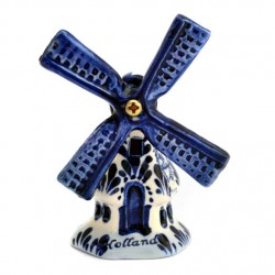 WINDMILL DELFT BLUE HEXAGON 8 CM