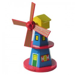 WINDMILL WOOD BLUE 15 CM