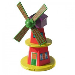 WINDMILL WOOD RED 15 CM