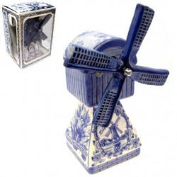 WINDMILL MUSIC HOLLAND DELFT BLUE 22 CM