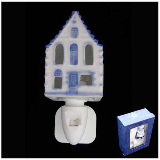 DELFT BLUE NIGHT / WALL LIGHT CANAL HOUSE