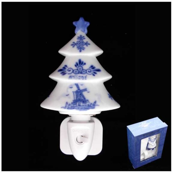 Night / wall light christmas tree delft blue
