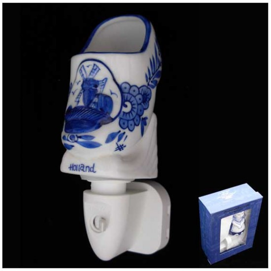 Delft blue night / wall light clog