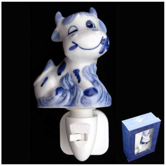 DELFT BLUE NIGHT / WALL LIGHT COW