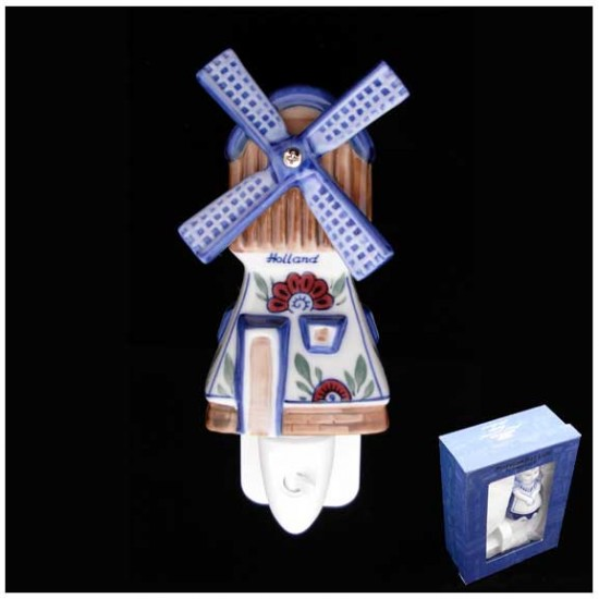 DELFT BLUE NIGHT / WALL LIGHT WINDMILL POLY