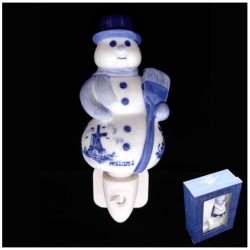 DELFT BLUE NIGHT / WALL LIGHT SNOWMAN