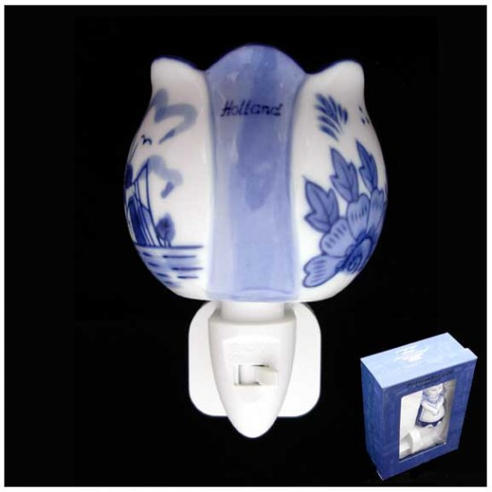 DELFT BLUE NIGHT / WALL LIGHT TULIP