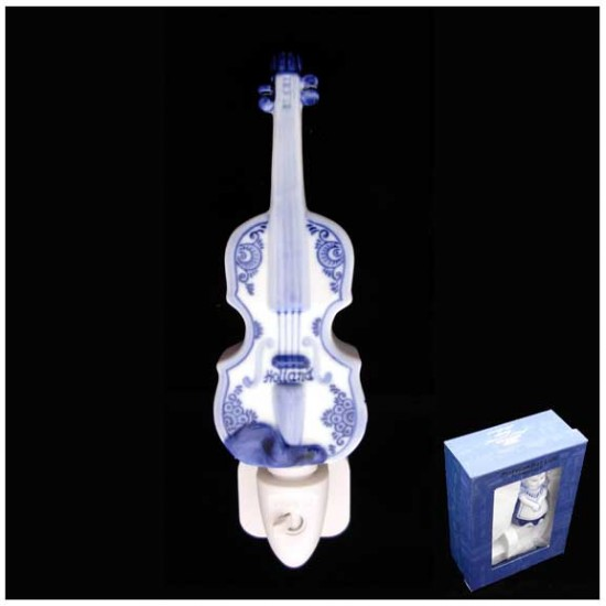 Delft blue night / wall light violin