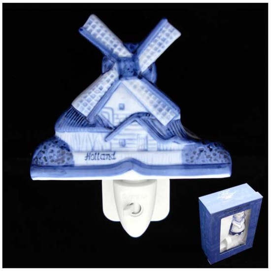 DELFT BLUE NIGHT / WALL LIGHT WATERMILL