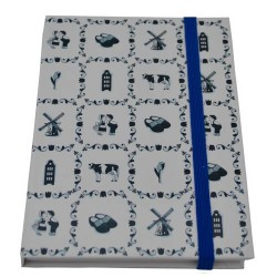 NOTE BOOK DELFT BLUE TILES