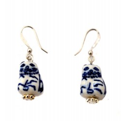 DELFT BLUE EARRINGS PENDANT CAT