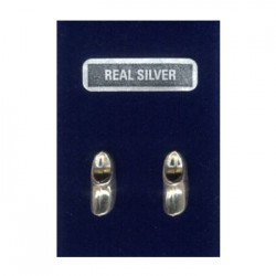 SILVER EARRINGS PINS CLOGGY 14 MM
