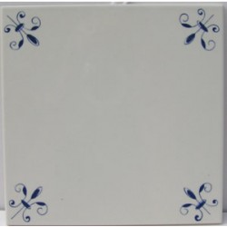 OLD DUTCH TILE DELFT BLUE 15 X 15 CM PLAIN