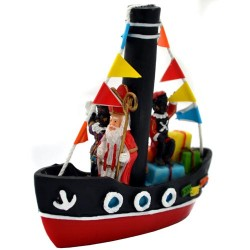 SAINT NICHOLAS and PETE BOAT POLYSTONE 10 CM