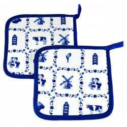 OVEN CLOTH SMALL DELFT BLUE TILES
