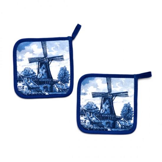 Potholder delft blue windmill