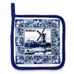 POTHOLDER DELFT BLUE TILES WINDMILL