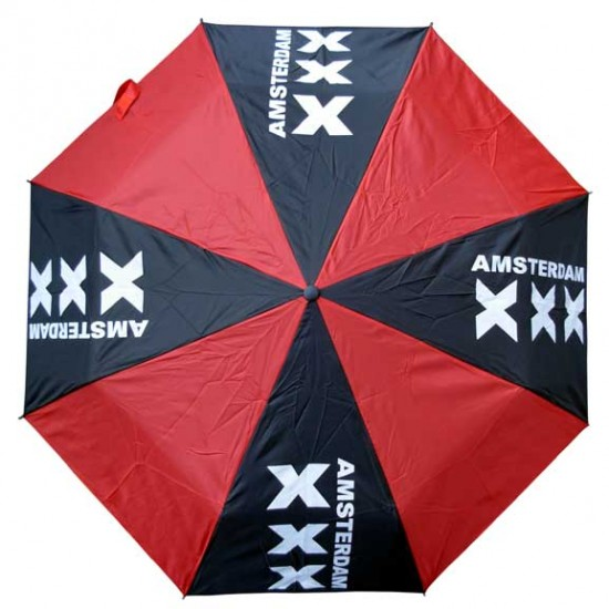 UMBRELLA AMSTERDAM CROSSES RED BLACK