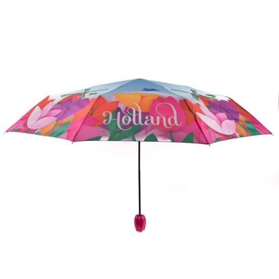 Paraplu tulpen holland tulpenkop fuchsia