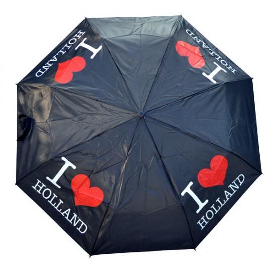 UMBRELLA I LOVE HOLLAND BLACK