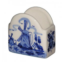 PENCIL HOLDER DELFT BLUE 7 X 6.5 X 4.5 CM
