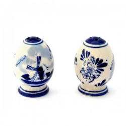 PEPPER AND SALT SET DELFT BLUE EGGS SMALL